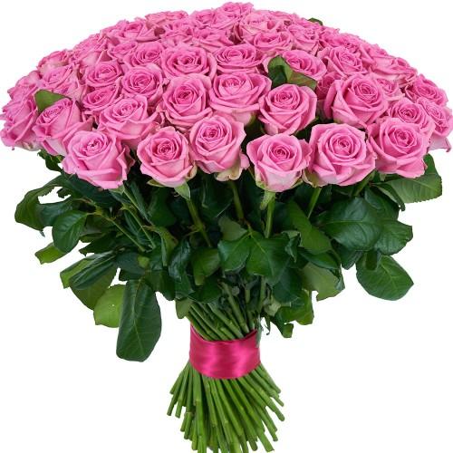 Купить на заказ Букет из 101 розовой розы с доставкой в Зайсане