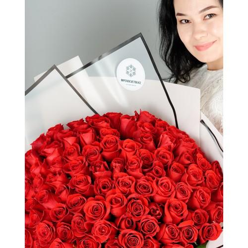 Купить на заказ Букет из 101 красной розы с доставкой в Зайсане