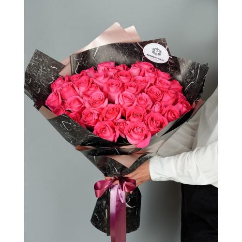 Купить на заказ Букет из 51 розовых роз с доставкой в Зайсане