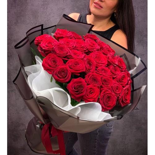 Купить на заказ Букет из 35 красных роз с доставкой в Зайсане