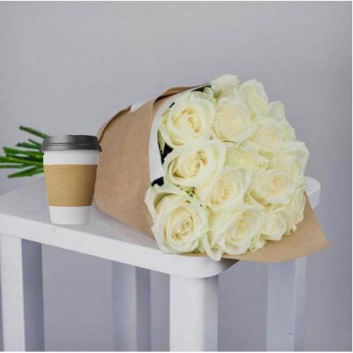 Купить на заказ Кофе с цветами с доставкой в Зайсане